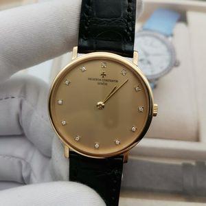 Vacheron Constantin 江诗丹顿传承18k黄金手动机械中性手表