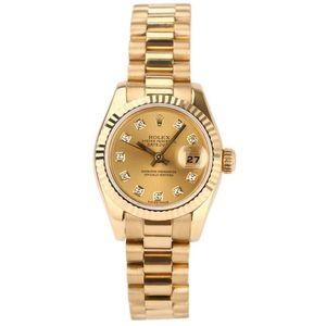 Rolex 劳力士179178黄金镶钻女士腕表