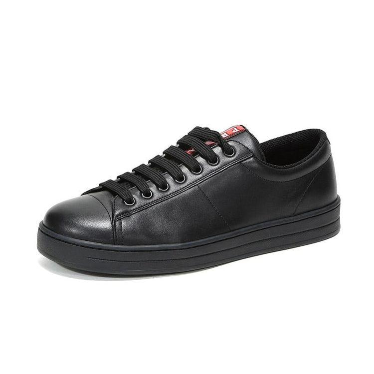 PRADA 普拉达男士皮革休闲板鞋