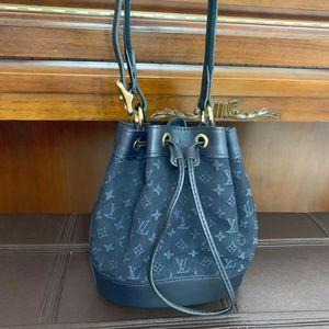 Louis Vuitton 路易·威登老花牛仔布水桶单肩包