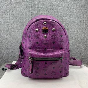 MCM  紫色双肩包