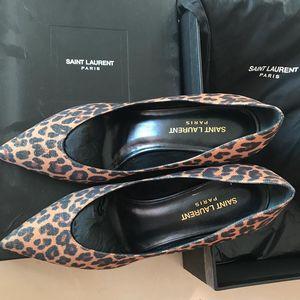 Saint Laurent Paris 圣罗兰豹纹优雅高跟鞋