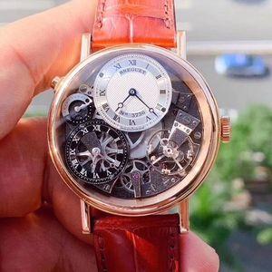 Breguet 宝玑7067玫瑰金手动机械表