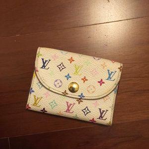 Louis Vuitton 路易·威登白三彩卡包零钱包