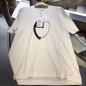 ARMANI 阿玛尼男士米白色短袖T恤