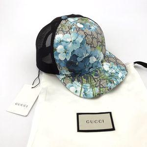 GUCCI 古驰湖蓝色帽子
