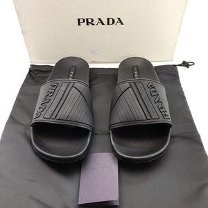 PRADA 普拉达全黑色凉鞋