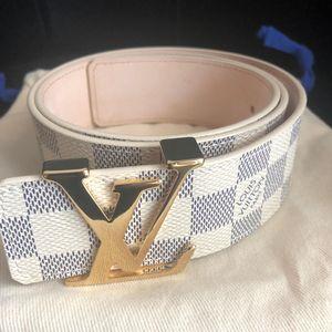 Louis Vuitton 路易·威登白棋格女士腰带