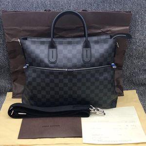 Louis Vuitton 路易·威登H19754 95新LV路易威登黑色棋盘格男士公文包