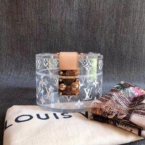 Louis Vuitton 路易·威登SCOTT印花透明首饰盒化妆包