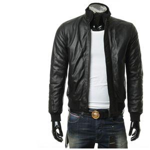 Emporio Armani EA 阿玛尼男士真皮夹克皮衣外套