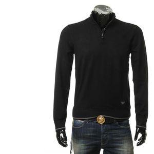 Emporio Armani 安普里奥·阿玛尼男士拉链高领保暖针织衫
