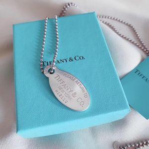 Tiffany & Co. 蒂芙尼椭圆牌毛衣链项链