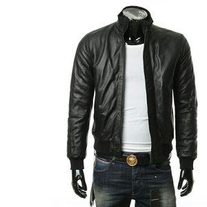 Emporio Armani 安普里奥·阿玛尼男士真皮夹克皮衣外套