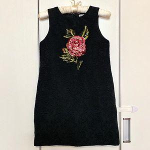 DOLCE&GABBANA 杜嘉班纳经典黑色珠片刺绣连衣裙