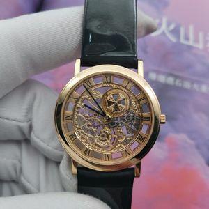 Vacheron Constantin 江诗丹顿18k黄金手动机械镂空腕表