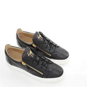 Giuseppe Zanotti 朱塞佩·萨诺第潮流男士真皮鳄鱼纹休闲鞋