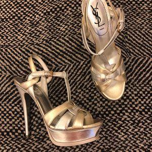 Yves Saint Laurent 伊夫·圣罗兰PLATFORM限量款双色防水台高跟鞋