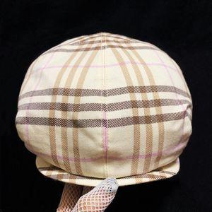Burberry 博柏利经典格纹蓓蕾鸭舌报童羊毛时装帽