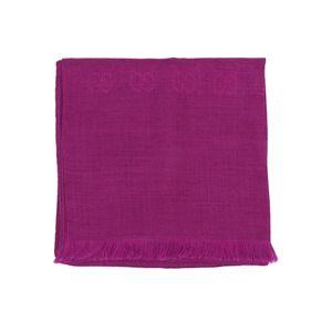 GUCCI 古驰经典logo暗纹羊毛真丝混纺围巾