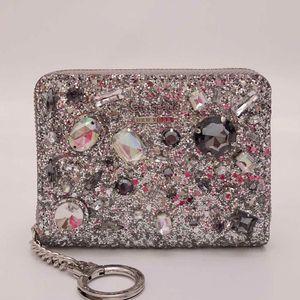 Kate Spade 凯特·丝蓓限量璀璨宝石拉链对折钱包