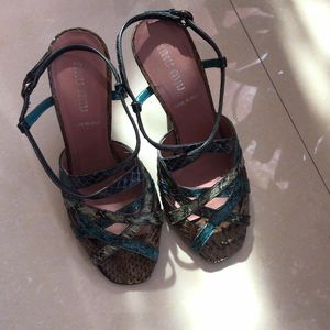 Miu Miu 缪缪蛇皮凉鞋