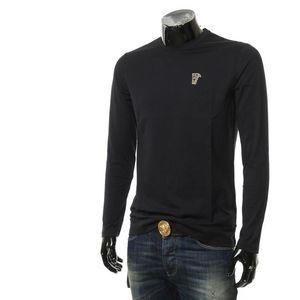 Versace 范思哲金标美杜莎男士修身长袖T恤