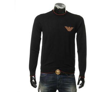 Emporio Armani 阿玛尼男士刺绣鹰标保暖针织衫