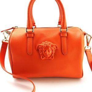 Versace 范思哲全皮波士顿手提包