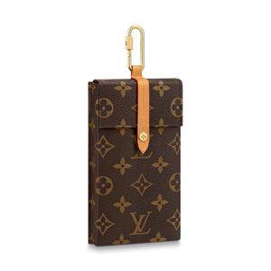 Louis Vuitton 路易·威登老花满logo烟盒手机包挂包