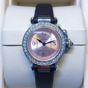 Cartier卡地亚帕莎系列女士石英后钻腕表
