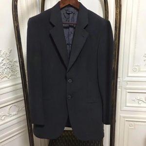 ARMANI 阿玛尼男士黑灰色长袖西装外套长裤套装