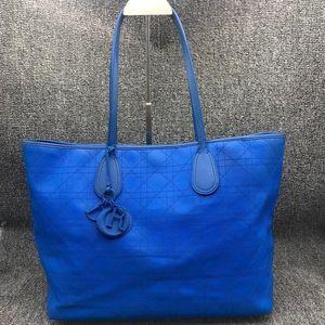 Dior 迪奥女士蓝色购物手提包