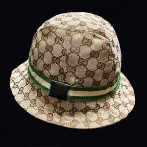 GUCCI 古驰翡翠白绿织带经典老花秋冬款加绒渔夫帽