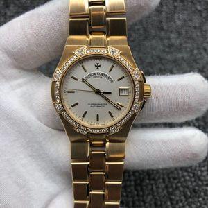 Vacheron Constantin 江诗丹顿纵横系列后镶钻18K全黄金自动机械腕表