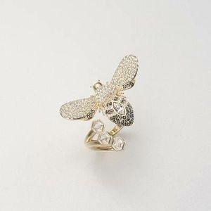 SWAROVSKI 施华洛世奇女士镀金蜜蜂戒指