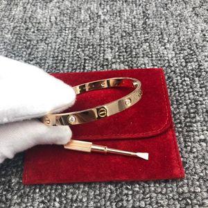 Cartier 卡地亚玫瑰金四钻手镯