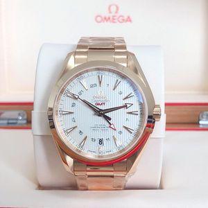 OMEGA 欧米茄海马系列18k玫瑰金自动机械表