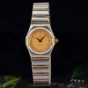 OMEGA 欧米茄星座镶钻石英腕表