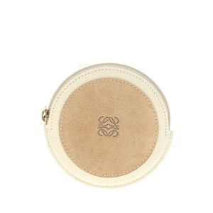 LOEWE 罗意威米色圆饼零钱包