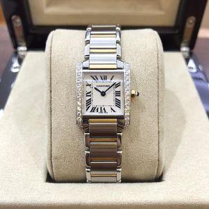 Cartier 卡地亚坦克后镶钻女士腕表