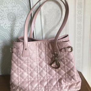 Dior 迪奥粉色单肩手提包