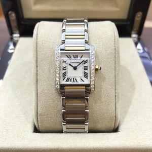 Cartier 卡地亚坦克后镶钻女士石英腕表