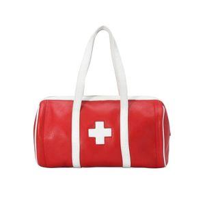 BALLY 巴利红十字手提包