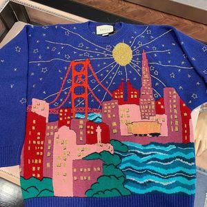 GUCCI 古驰城市建筑针织衫