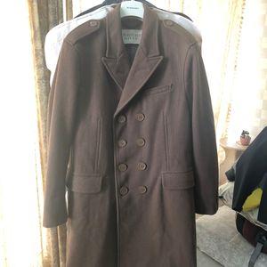 Burberry 博柏利男士麦尔顿羊毛大衣