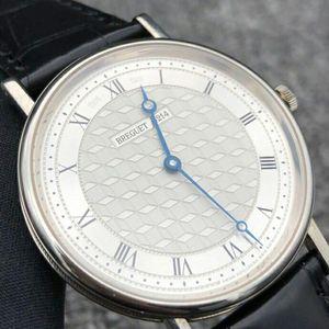 Breguet 宝玑白金材质男士手动机械腕表