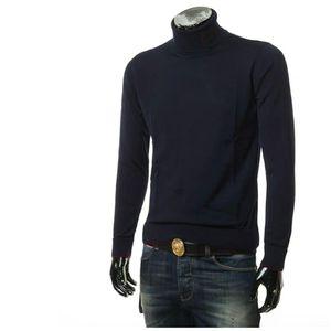 Emporio Armani  阿玛尼男士高领纯色保暖毛衣