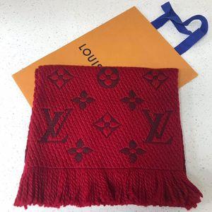 Louis Vuitton 路易·威登经典大红色羊毛围巾