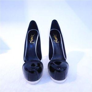 Yves Saint Laurent 伊夫·圣罗兰黑白拼色高跟鞋